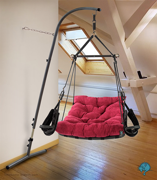 """Wall Stand for Sex Swing """"Private Euphoria"""" from LONESOME DRAGON Switzerland"""