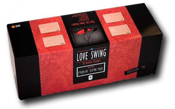 """Product box of the sex swing """"Private Euphoria"""""""