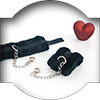 Fluffy hand cuffs for love swing