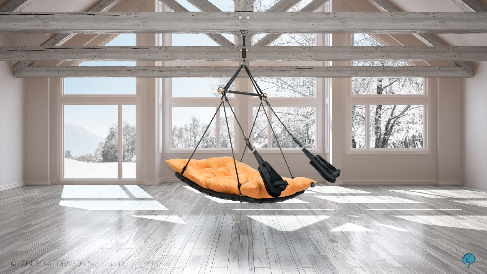 stylish sex swing in color sand