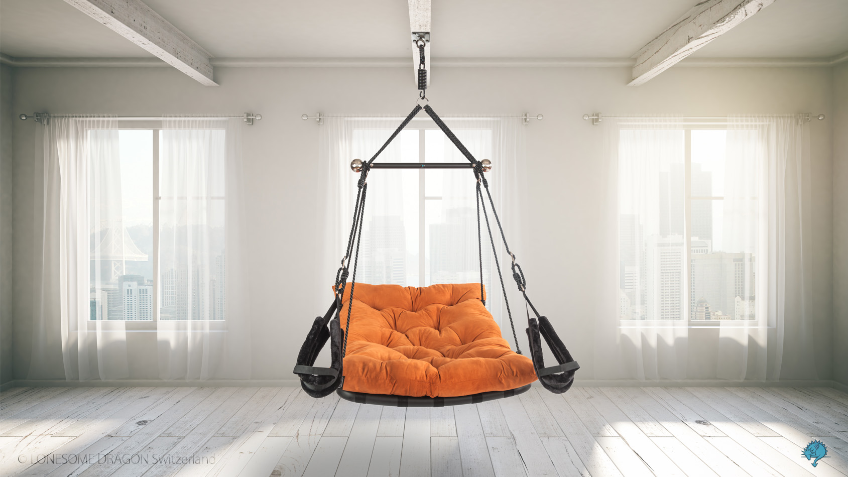 "sex swing ""Private Euphoria"" in orange-brown"
