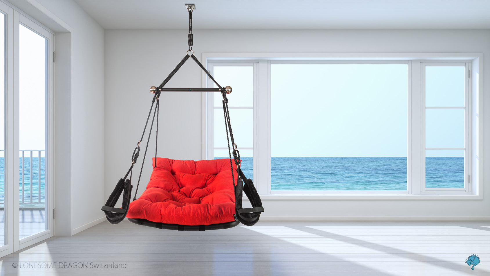 """Comfortable sex swing """"Private Euphoria"""" in color red"""